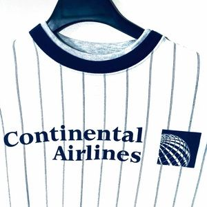Other - Vintage Continental Airlines Pinstripe Sweater